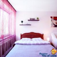 Wynająć mieszkanie, Lwów, ul Ternopolska, 15 B, sypialnia, szczegóły wnętrza - łóżko