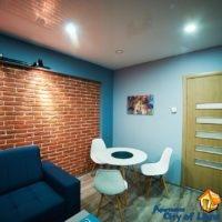 Apartment for rent center, Lviv, Smerekova st 2, living room, dining area, general view
