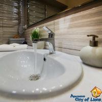 Rent an apartment in Lviv, Smerekova st 2, bathroom, interior details - wash basin