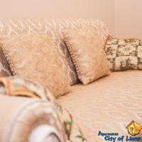 Квартира посуточно, Львов, центр, ул Драгоманова 4, гостиная, детали интерьера - диван